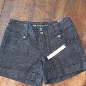 WHBM Black Washed Denim Shorts